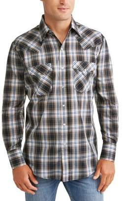Plains Big And Tall Men's Long Sleeve Plaid Western Shirt