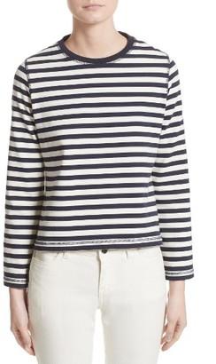 Women's Belstaff Christina Stripe Cotton Sweater $175 thestylecure.com