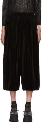 Comme des Garcons Black Cotton Velveteen Trousers