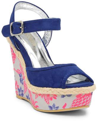 Jacobies of Beverly Hills Yasin Peep Toe Wedge Sandal