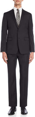 Calvin Klein Two-Piece Charcoal Twill Suit