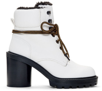 Marc Jacobs White Crosby Hiking Boots