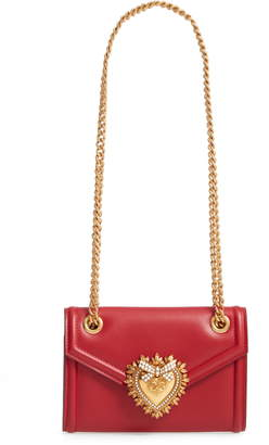 Dolce & Gabbana Micro Devotion Leather Crossbody Bag