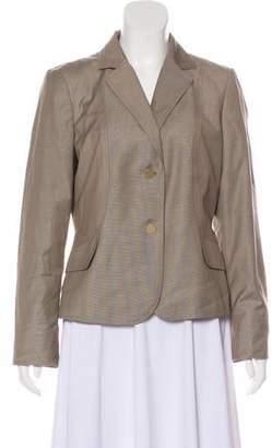 Calvin Klein Collection Notch-Lapel Long Sleeve Blazer