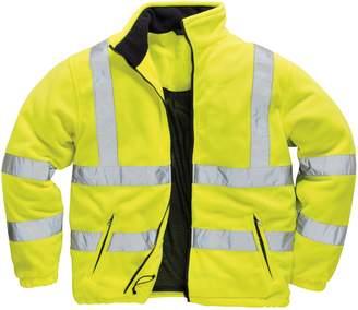 Portwest Mens Lined Hi Vis Fleece Jacket (XL)