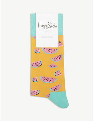 Happy Socks Watermelon print cotton-blend socks