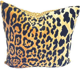 One Kings Lane Vintage Velvet Leopard Pillow - Vermilion Designs