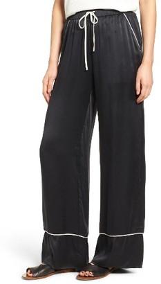 Women's Majorelle Eaton Silk Wide Leg Pants $258 thestylecure.com
