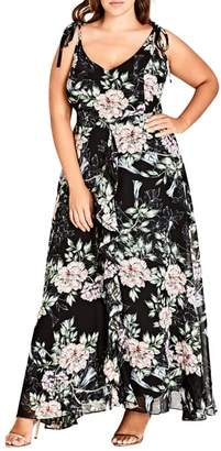 City Chic Blossoms Sleeveless Maxi Dress