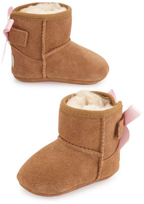 UGG Jesse Suede Boot w/ Bow, Chestnut, Infants' Sizes 0-18 Months $55 thestylecure.com