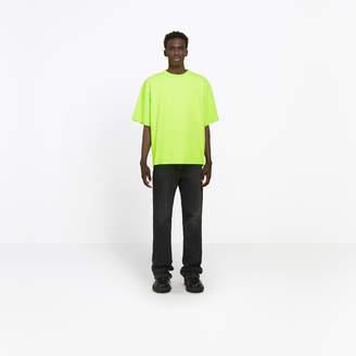 Balenciaga Cotton T-shirt with back 'Ego' print