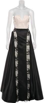 Alice + Olivia Two-Tone Evening Dress