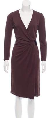 Gucci Embellished Wrap Dress