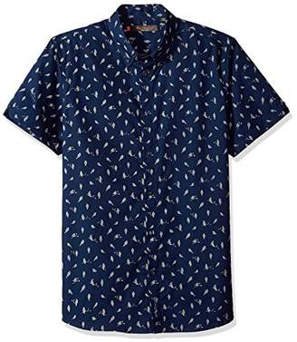 Ben Sherman Men's Short Sleeve Bird Print Shirt