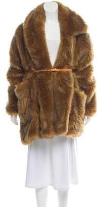 Isa Arfen Faur Fur Knee-Length Coat
