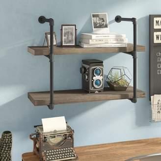 Trent Austin Design Ahren 2 Industrial Pipe Wall Shelf