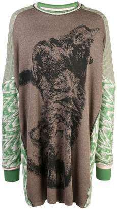 Bernhard Willhelm Cat oversized sweater
