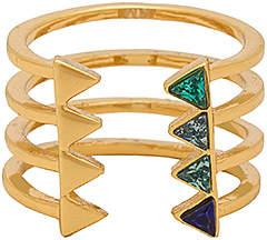 Rebecca Minkoff Stacked Triangles U-Ring