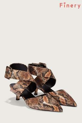Next Womens Finery London Tan Jenni Snake Print Ankle Strap Shoe