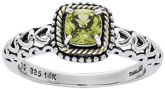 Couture FINE JEWELRY Shey Genuine Peridot 14K Gold Over Sterling Silver Heart Cutout Ring