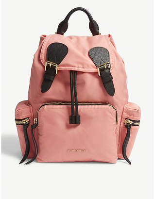 Burberry Bright Coral Pink Quilted Prorsum Backpack
