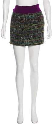 Diane von Furstenberg Garrini Tweed Mini Skirt
