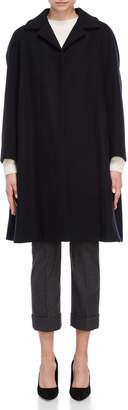 Jil Sander Navy Wool Long Coat