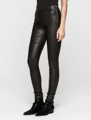 Calvin Klein rebel edge leather leggings