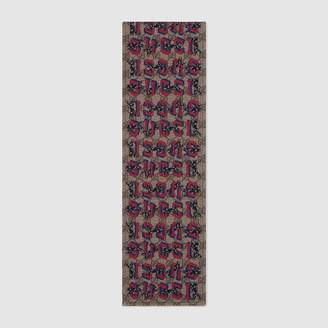 Gucci Children's GG wolves scarf