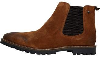 Base London Mens Turret Chelsea Boots Cognac Burnish