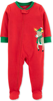 Carter's Toddler Boys Reindeer Footed Pajamas