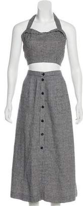 Reformation Gingham Crop Top Skirt Set