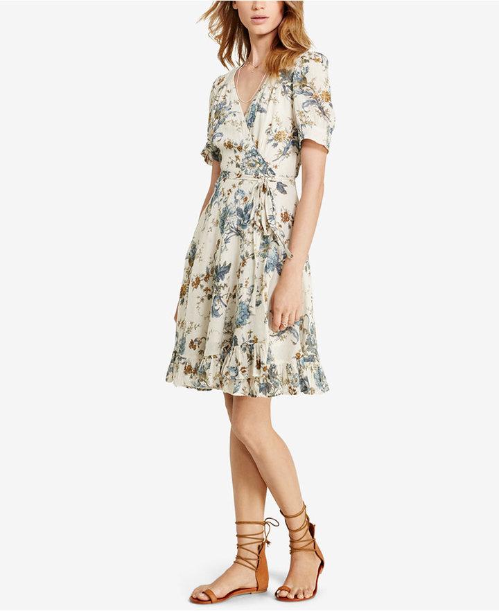 Denim & Supply Ralph Lauren Floral-Print Gauze Wrap Dress 3