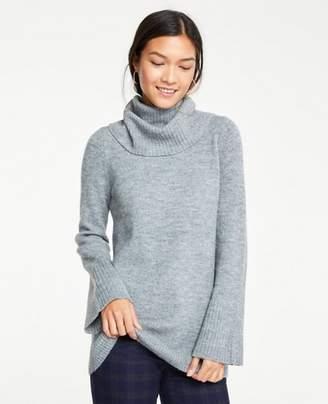 Ann Taylor Petite Flare Sleeve Turtleneck Tunic Sweater
