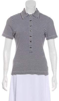 Tory Burch Collared Short Sleeve Top
