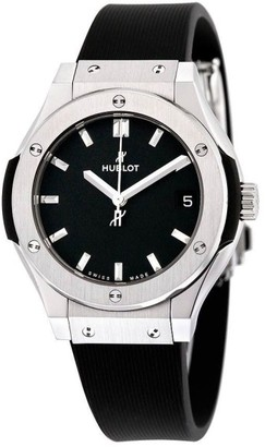 Hublot 581.nx.1171.rx Classic Fusion Quartz Titanium 33mm Womens Watch $5,200 thestylecure.com