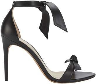 Alexandre Birman Clarita Double Bow Black Leather Sandals