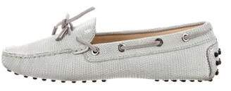 Tod's Embossed Leather Loafers