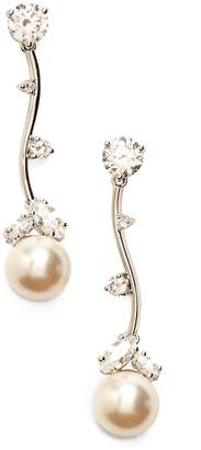 Nadri Imitation Pearl Linear Drop Earrings