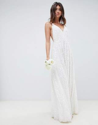 Asos Edition EDITION sequin cami wedding dress