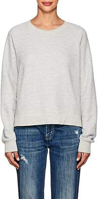 Current/Elliott Women's Open-Back Cotton-Blend Sweatshirt - Gray
