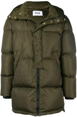 MSGM zipped padded coat