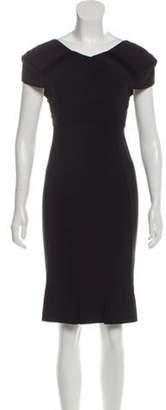 Roland Mouret Short Sleeve Knee-Length Dress Black Short Sleeve Knee-Length Dress