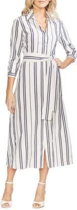 Vince Camuto Valiant Stripe Midi Shirtdress
