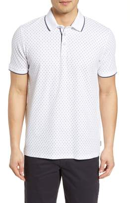 773fae114 Ted Baker Tofftt Slim Fit Print Pique Polo