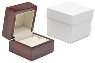 Montreal Gloss Brown Wooden Ring Box