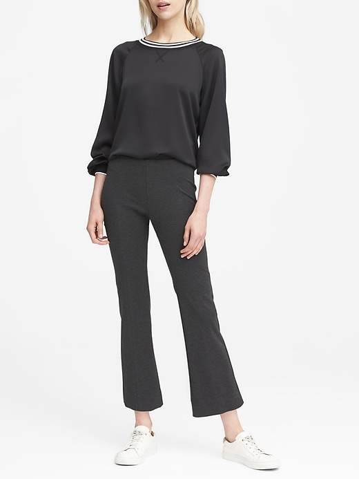 Ponte Crop Flare Pull-On Pant