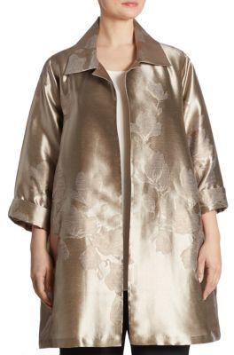 Caroline RoseCaroline Rose Fine Vines Metallic Jacquard Jacket