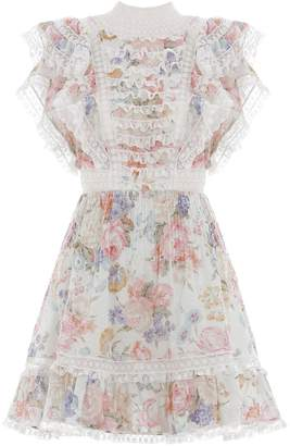 Zimmermann Bowie Frill Mini Dress