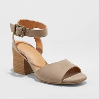 Universal Thread Women's Megan Microsuede Quarter Strap Heeled Pump Sandals